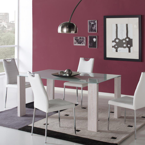 Conjunto de Mesa Cristal y 4 sillas Melbourne, daicarmobel Lleida