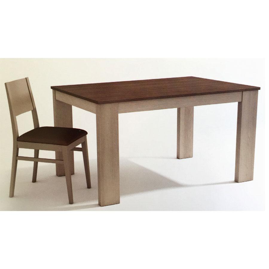 Mesa comedor dc16 madera mesa sal n daicarmobel lleida for Mesa salon madera