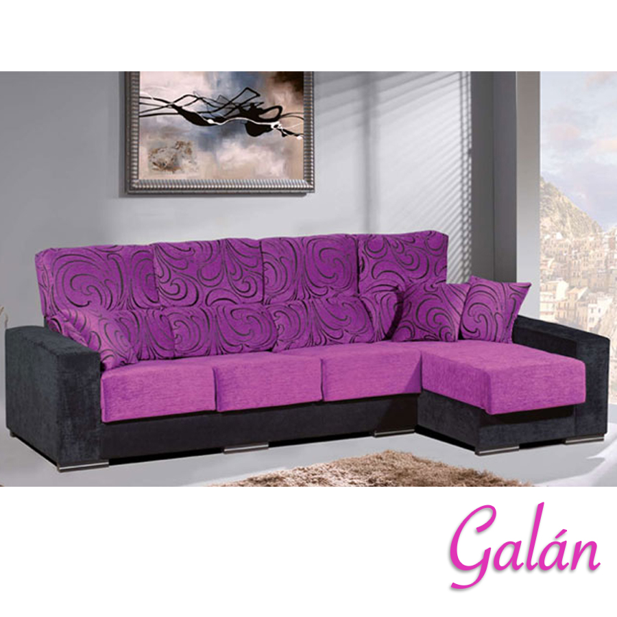Sof chaise longue gal n sof s daicarmobel lleida for Decoracion hogar lleida