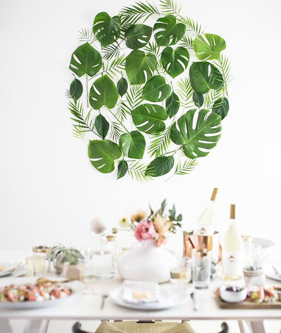 DIY Especial Primavera: Un mural de hojas naturales