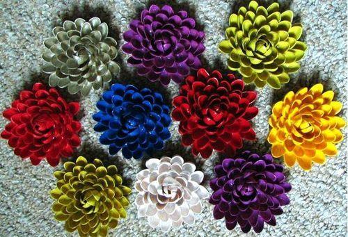 DIY: Cómo hacer flores con cáscaras de pistacho para decorar