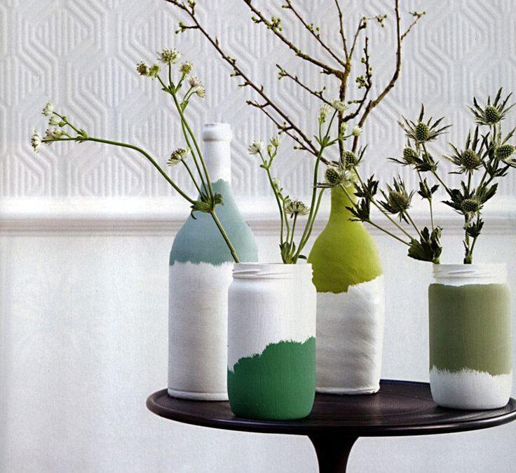 DIY: Pintar botellas y jarras con pintura acrílica para decorar
