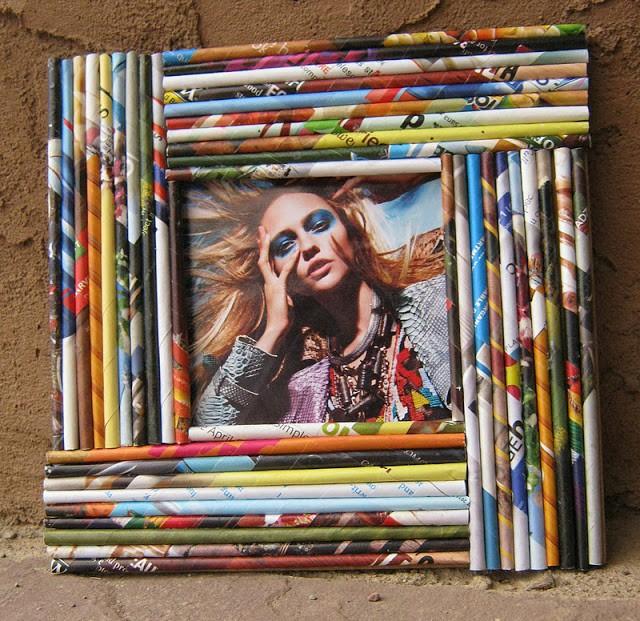DIY: Cómo hacer un marco decorado con revistas recicladas