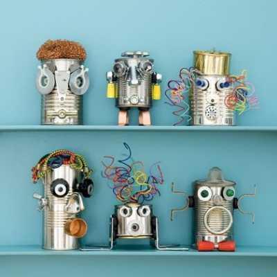 DIY: Robots hechos con latas recicladas para los peques de casa