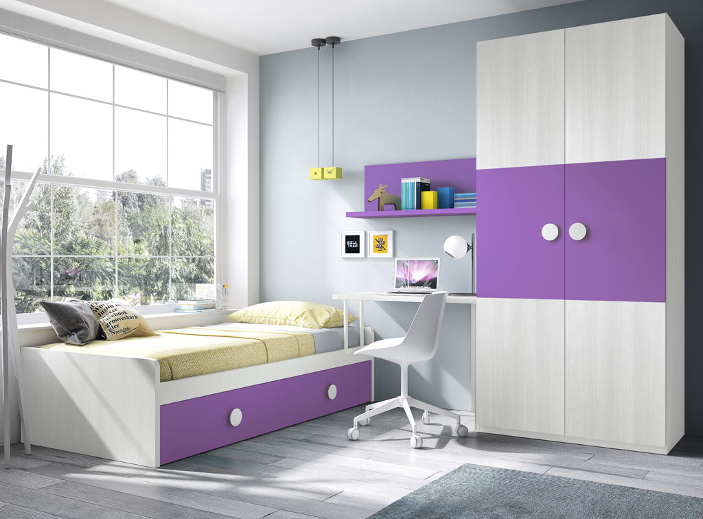 habitaciones juveniles un mundo de color para los ni os. Black Bedroom Furniture Sets. Home Design Ideas