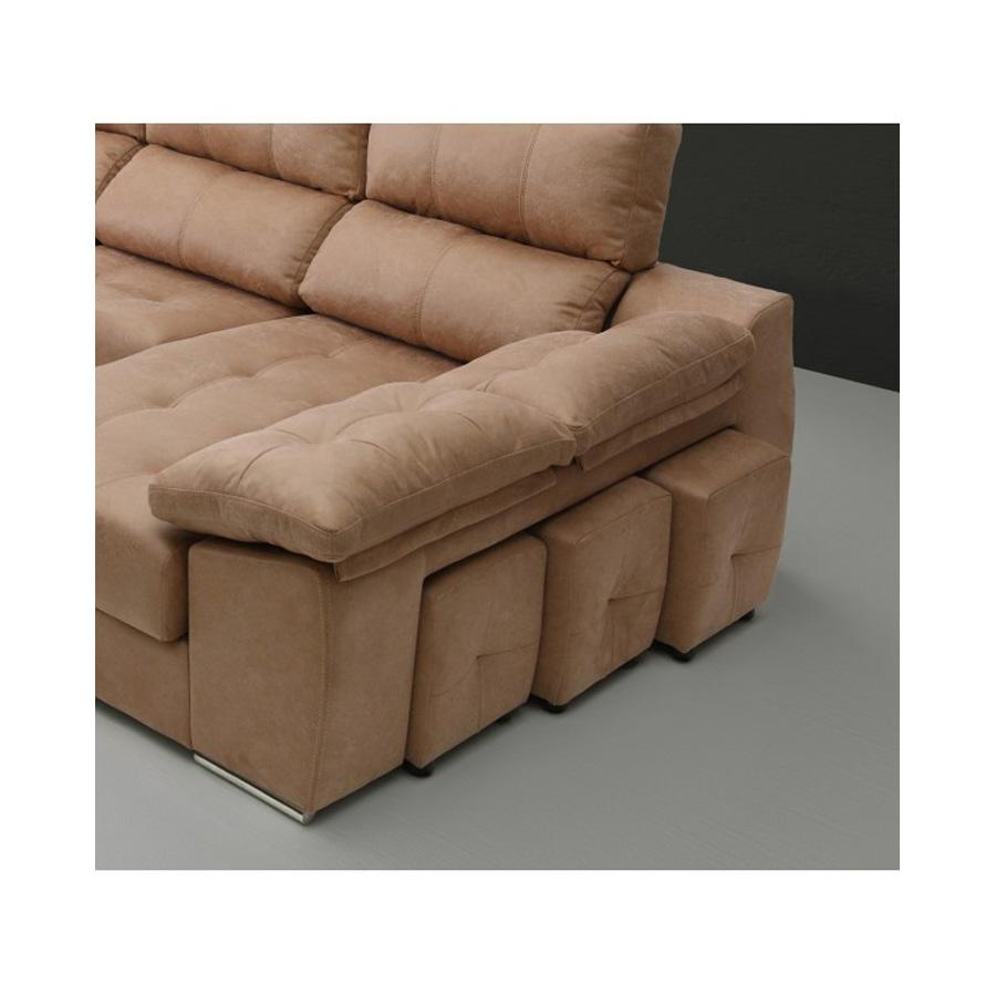 Sof chaise longue con pufs integrados sof s daicarmobel - Sofa con chaise ...