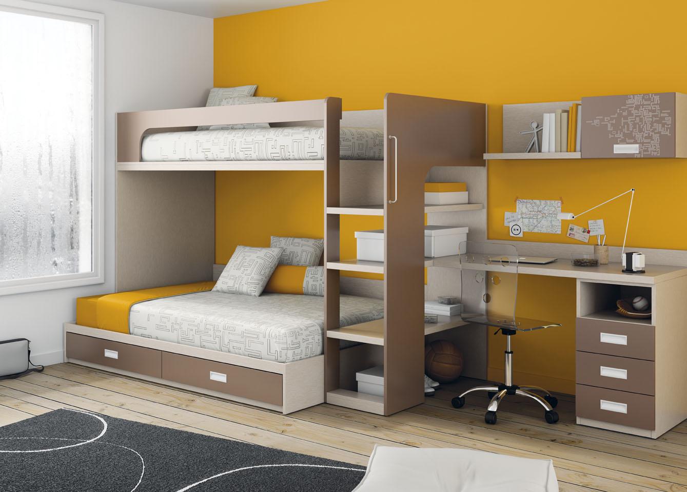 Dormitorios juveniles con literas muebles tiendas de for Dormitorios con literas