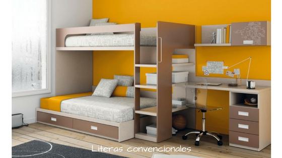 Dormitorios juveniles con literas la soluci n m s - Dormitorios juveniles con poco espacio ...