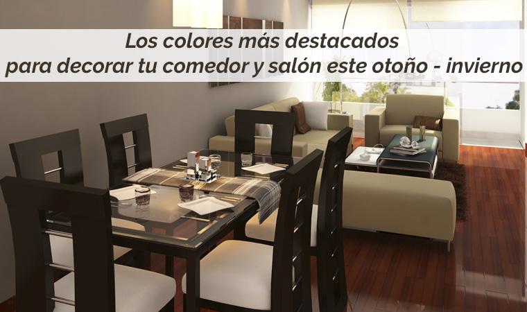 Los colores para decorar tu comedor y salón este otoño - invierno