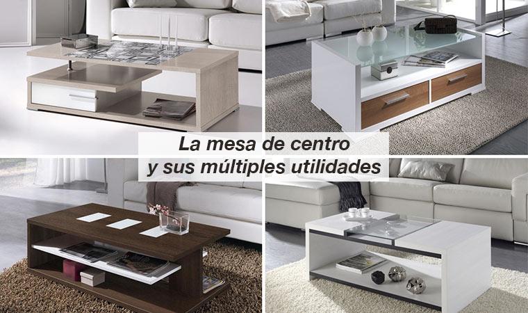 La mesa de centro y sus m ltiples utilidades para el sal n - Mesas de libro para salon ...