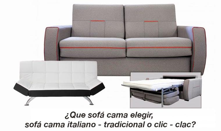 Que sof cama elegir sof cama italiano tradicional o for Sofa cama italiano