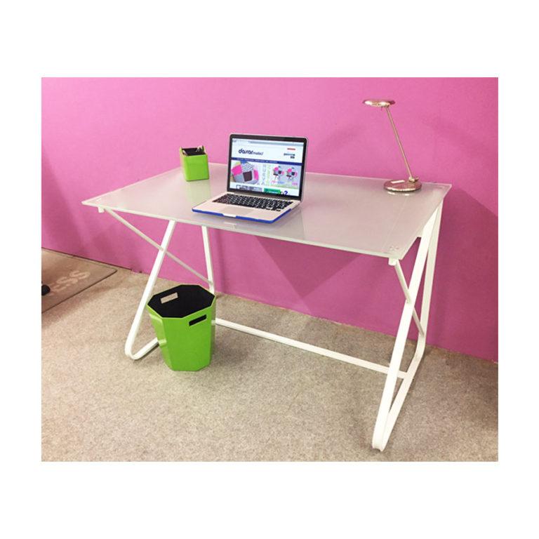 Mesa estudio metal cristal para decorar tu despacho - Mesas estudio cristal ...