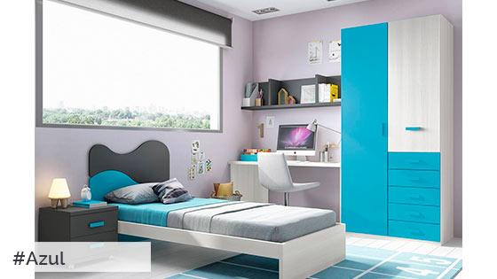 Color azul muebles tiendas de muebles en lleida for Muebles daicar