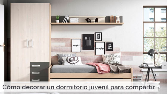 C mo decorar un dormitorio juvenil para compartir for Como decorar un dormitorio