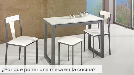 Por qué poner una mesa en la cocina? - Ahorrarás espacio