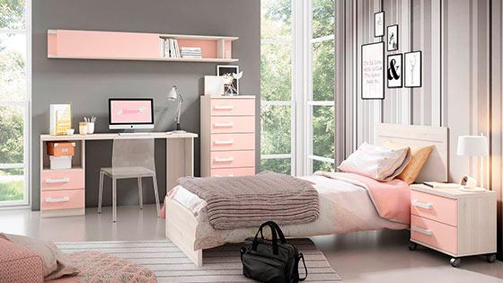 Habitacion chica adolescente muebles tiendas de for Decoracion hogar lleida