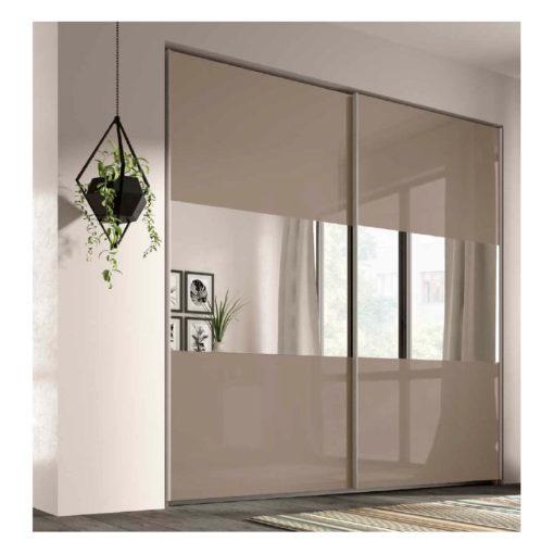 Armario puertas correderas rcm022 con espejos centrales - Armario puertas correderas ...