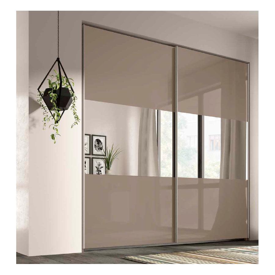 Armario puertas correderas rcm022 con espejos centrales for Espejos para armarios