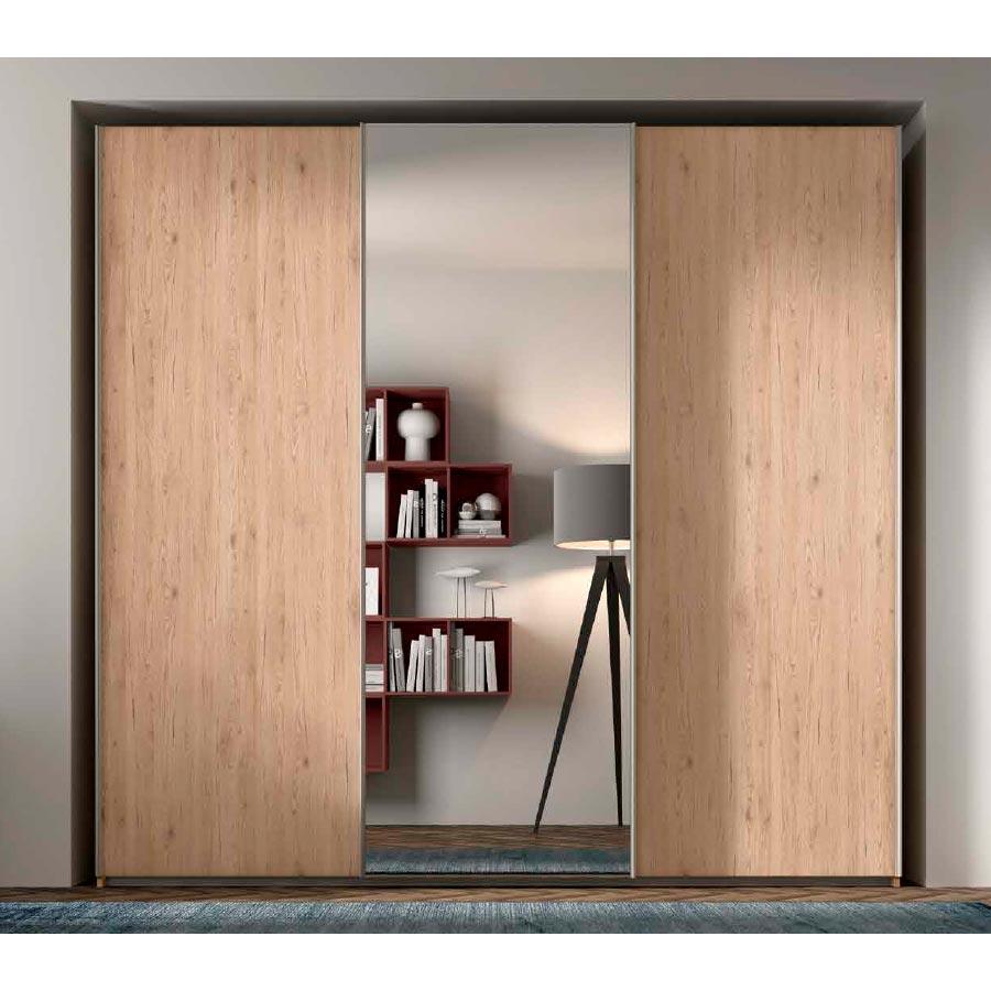 Armario puertas correderas rcm016 con puerta espejo - Armarios con puerta corredera ...