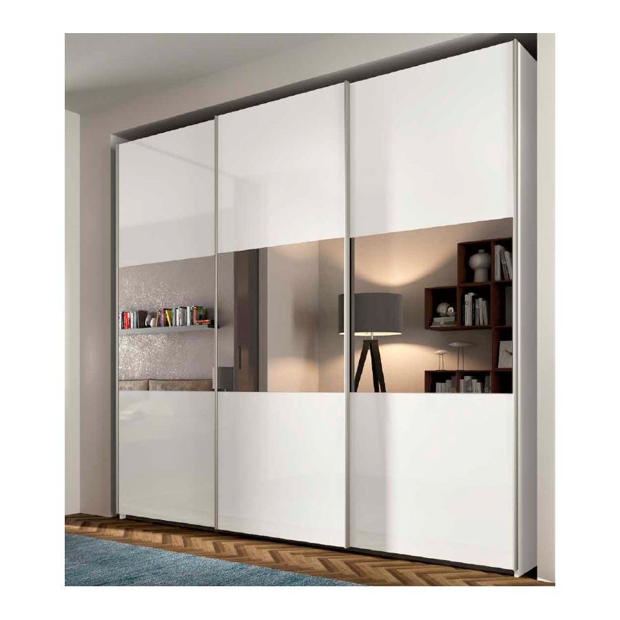 Armario puertas correderas rcm017 con espejos centrales for Espejos para armarios