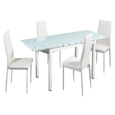 Set Mesa y 4 Sillas Salón Comedor Vian Pack