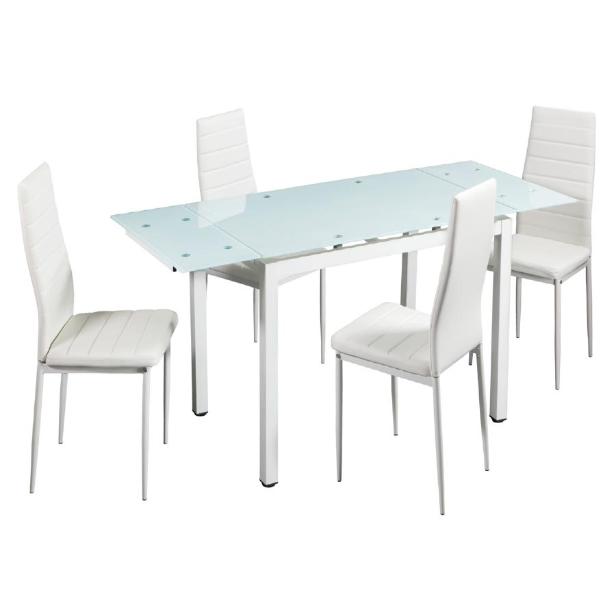 Set mesa y 4 sillas sal n comedor vian pack elegante y for Mesas y sillas salon