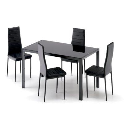Set Mesa y 4 Sillas Salón Comedor Vega Pack
