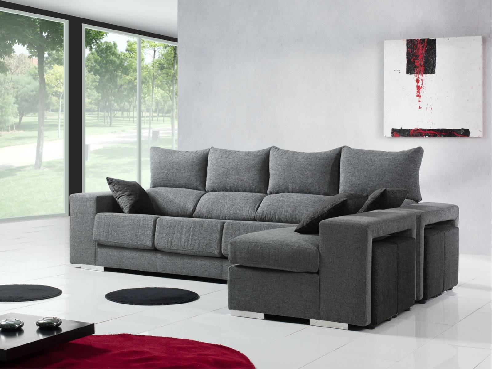 sofa chaise longue 4 puff