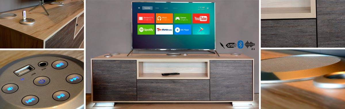 Mueble TV Sonido 2.1
