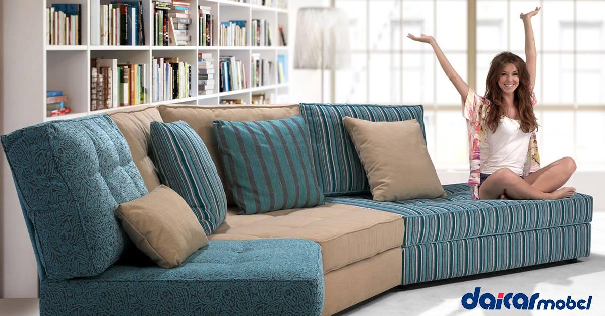 Sofá modular, la última tendencia en sofás para adaptarse totalemente en tu hogar.