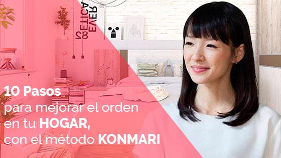 10 pasos para mejorar el orden en tu hogar, método Konmari