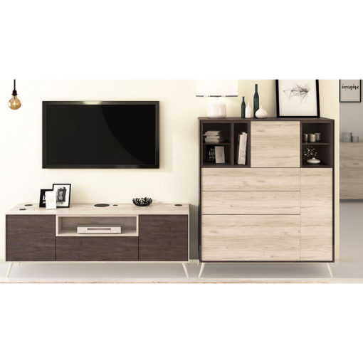 Salon-Floky-Tv-Aparador-patas-madera