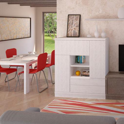 Salon-comedor-Tamara-nordik-piedra-mesa-mueble-bar