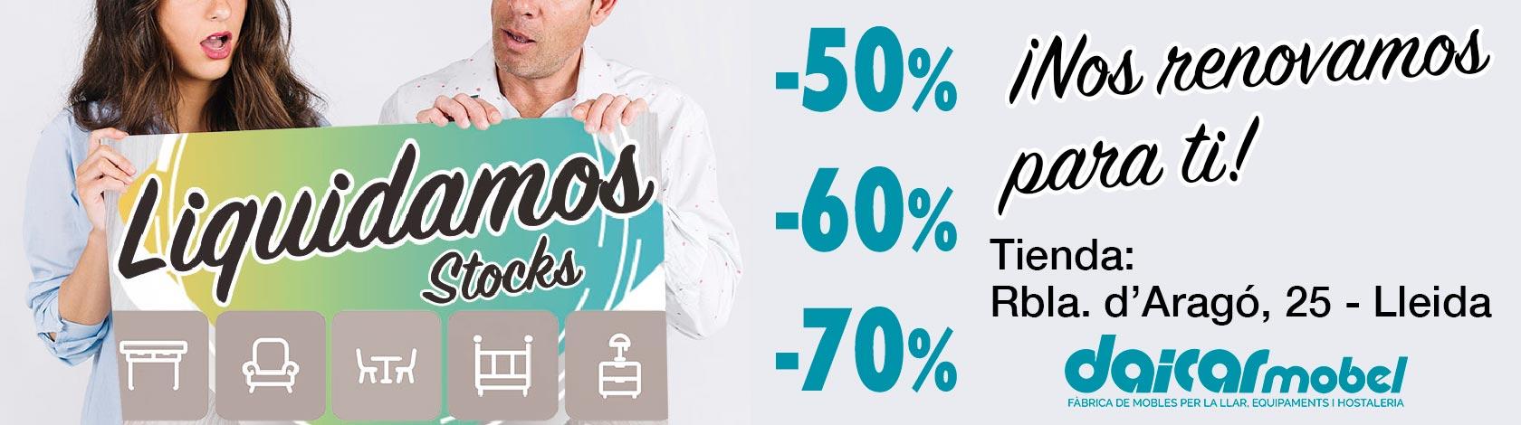 Liquidación Stocks por Renovación Tienda: Rbla. Aragó Lleida