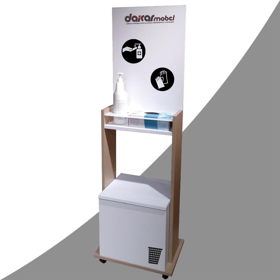 Mueble Dispensador Protección COVID-19 - Completo